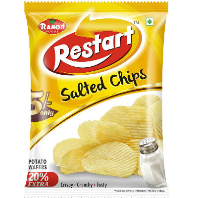 Ramoji Restart Salted Chips Rs.5 Pouch